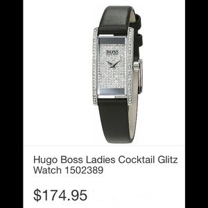 Boss bling leather watch